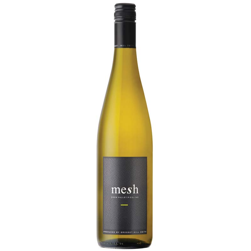 mesh Riesling wine bottle